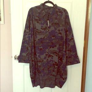 Comfy USA poplin shirt, 3x, NWT, Elaine print